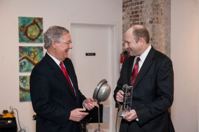 Senator Mitch McConnell accepts the 2013 Crime Fighter Award from RAINN founder Scott Berkowitz