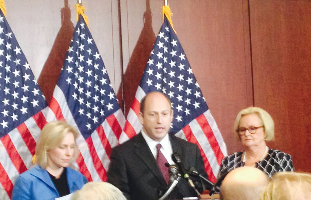 Scott Berkowitz, president of RAINN, speaks at Capitol Hill press conference