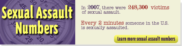 in 6 women and 1 in 33 men will be a victim of sexual assault in