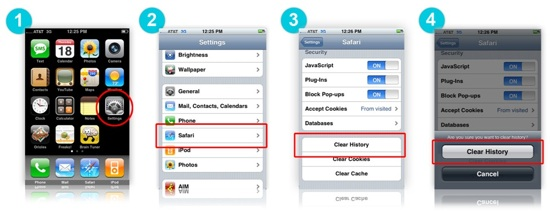 how to delete history on iphone how to clear history cache on mobile devices rainn 18722