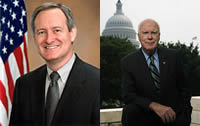 Senators Mike Crapo and Patrick Leahy portraits