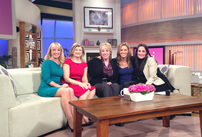 RAINN survivors with hosts of Ricki Lake Show