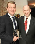 RAINN founder Scott Berkowitz and Senator Michael Bennet who received RAINN's 2012 Crime Fighter Award