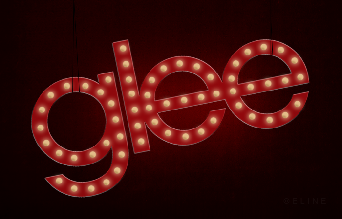 Glee sign lit up