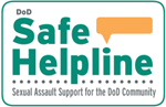 Dod Safe Helpline logo. Sexual assault support for the DoD community.