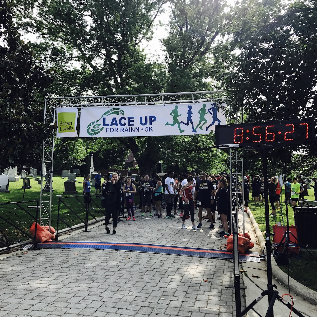 Starting line banner above the 2017 Lace Up for RAINN 5K