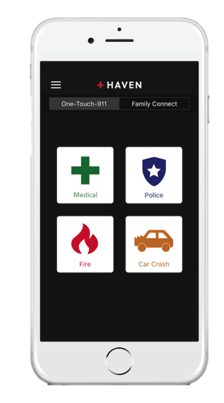 Phone showing new app that helps mobile users access 911